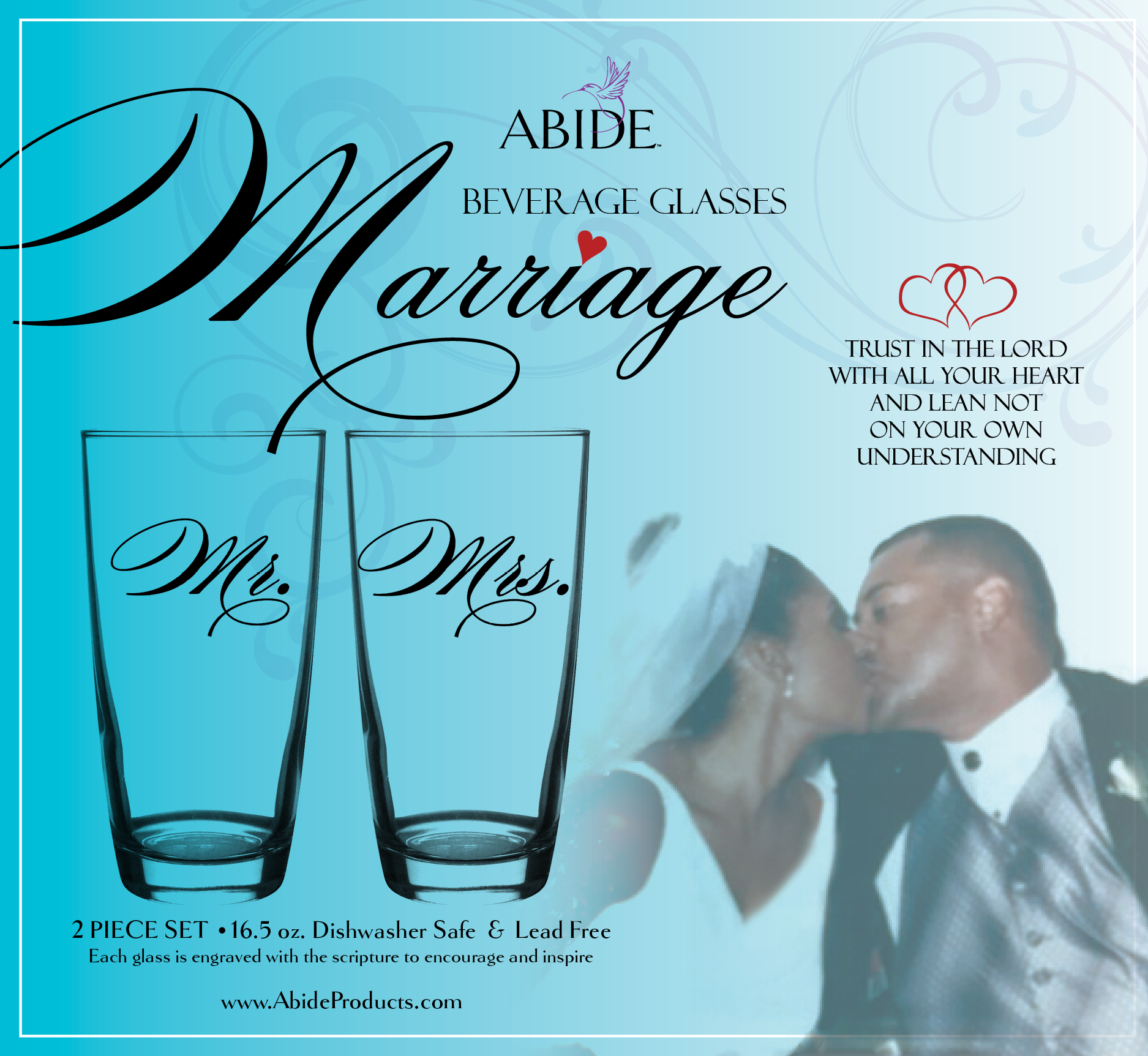 Abide Marriage Beverage Glasses